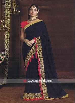 Tamannaah Bhatia Zari Work Saree