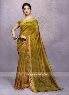 Tamannaah Bhatia Zari Work Saree with Blouse