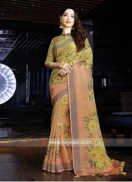 Tamannaah Bhatia Zari Woven Printed Saree