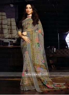 Tamannaah Bhatia Zari Woven Saree