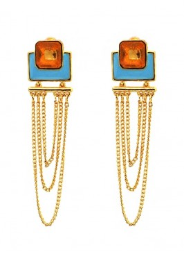 Tangy Multilayered Dangler Earrings