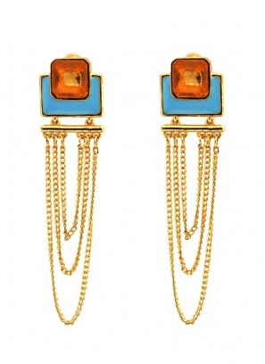 Tangy Multilayered Dangler Earrings