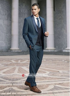 Teal Color Imported Fabric Suit