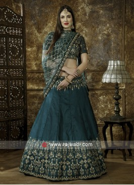 Teal Color Wedding Lehenga Choli