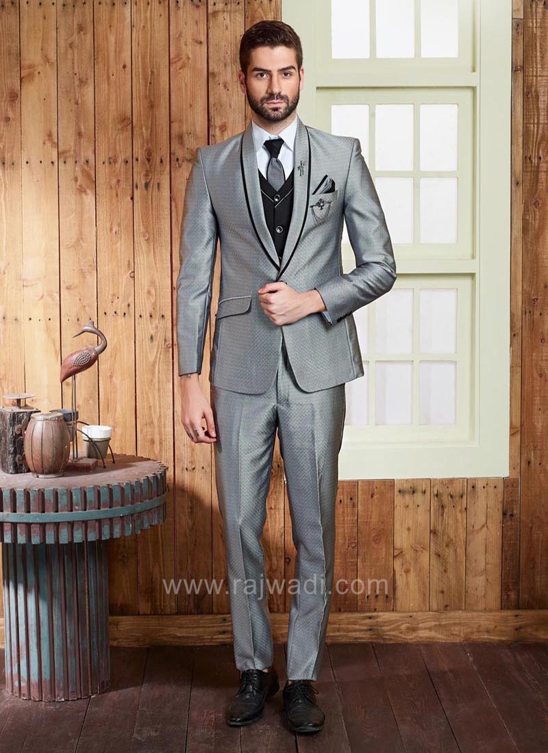 Terry Rayon Grey Color Suit