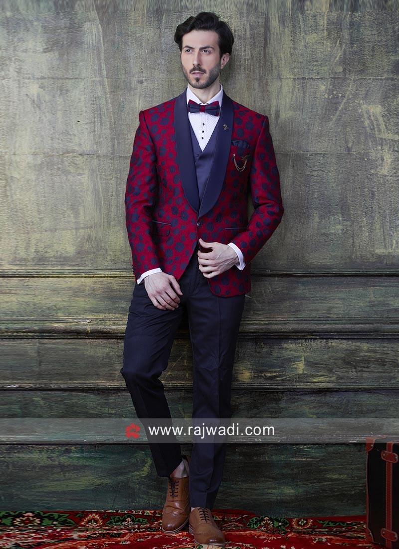 Stylish Red Color Suit For Wedding