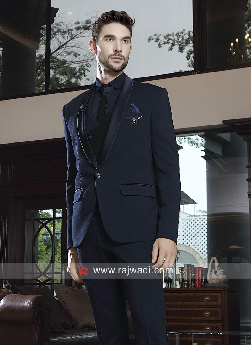 Wedding Wear Blue Color Suit