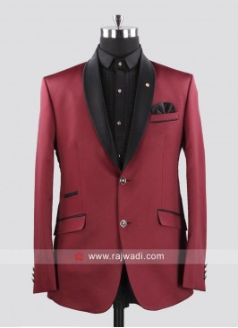 Terry Rayon Maroon Color Suit