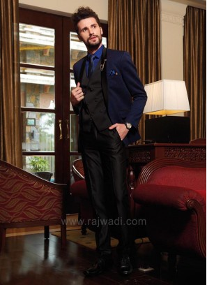 Terry Rayon Navy Color Suit