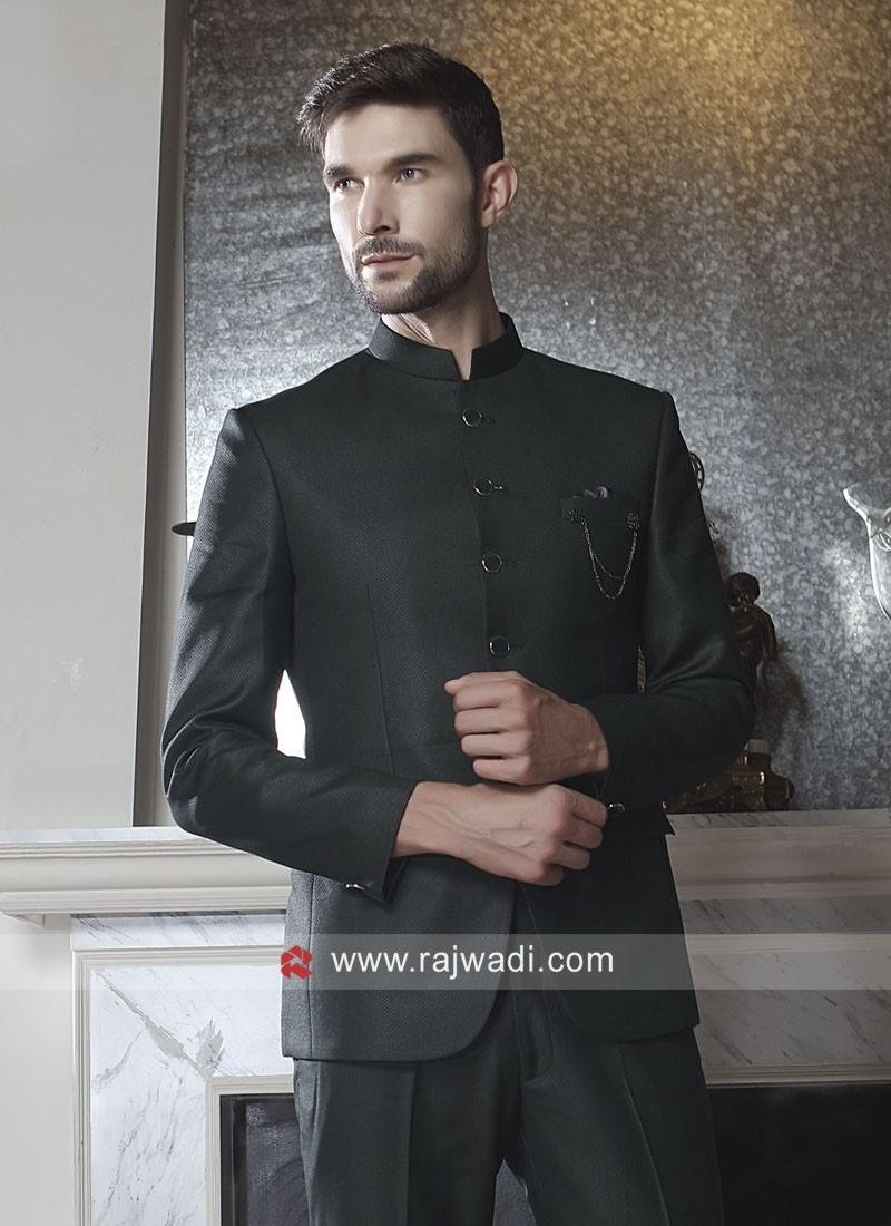 Stylish Black Jodhpuri Set