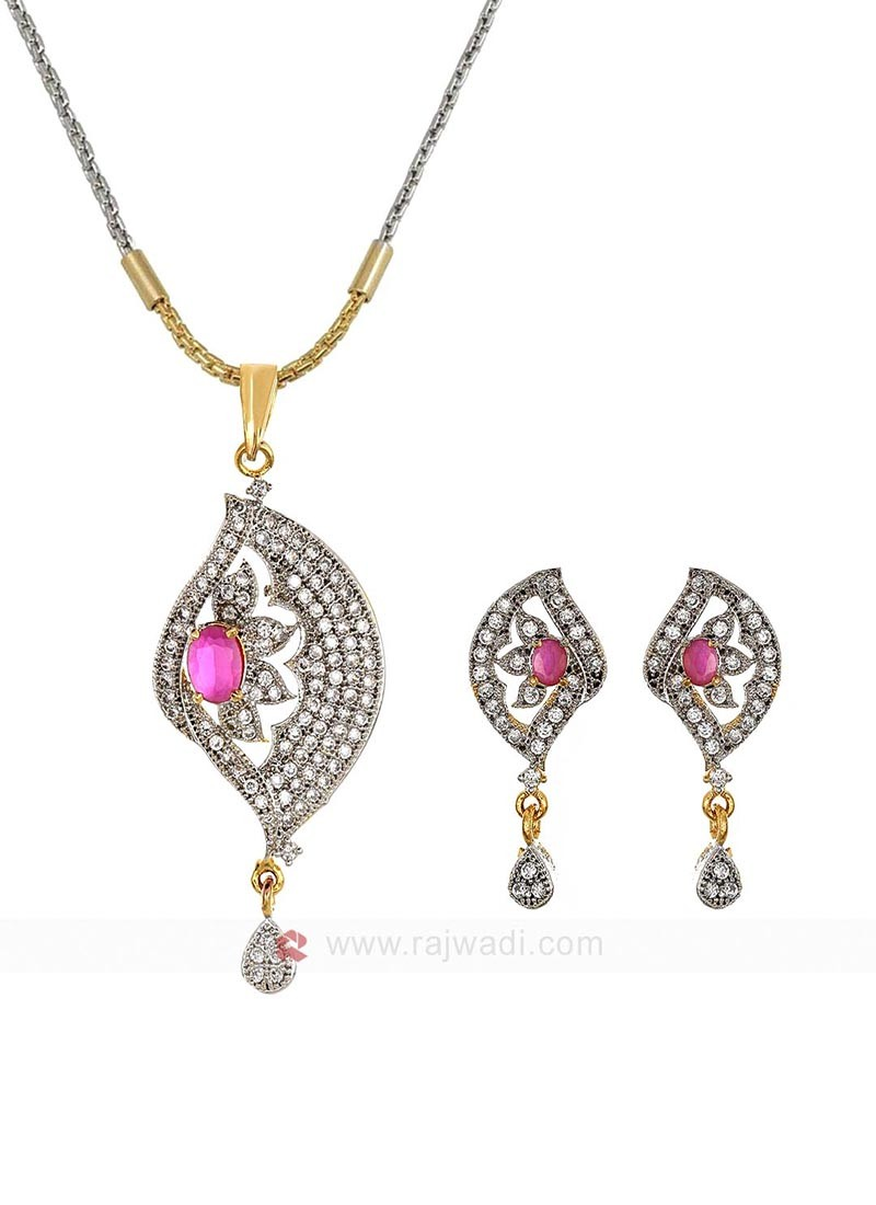 The Half Truth Pink Pendant Set