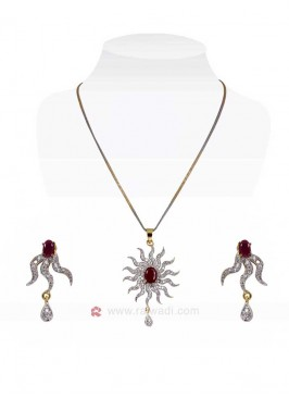 The Rising Sun Pink Pendant Set