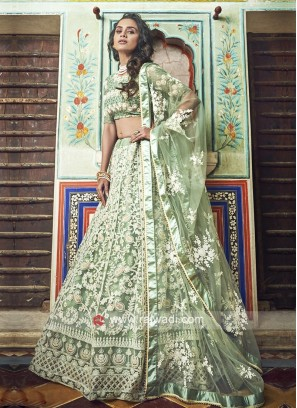 Thread And Pearl Work Lehenga Choli