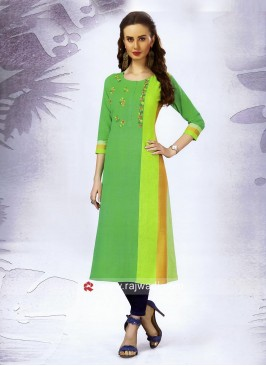 Thread and Resham Work Cotton Kurti