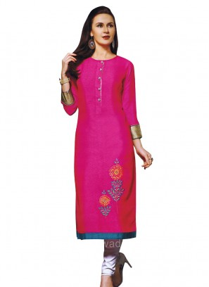 Thread and Zari Work Straight Kurti