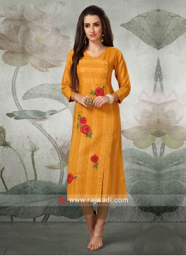 Thread Embroidery Casual Kurti
