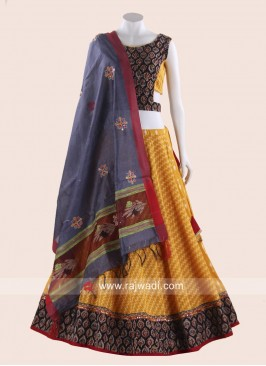 Thread Work Cotton Printed Chaniya Choli