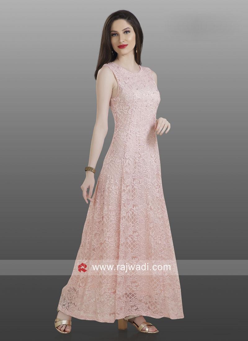 Thread Work Gown Style Kurti