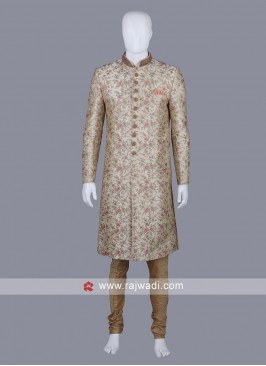 Thread Work Groom Sherwani