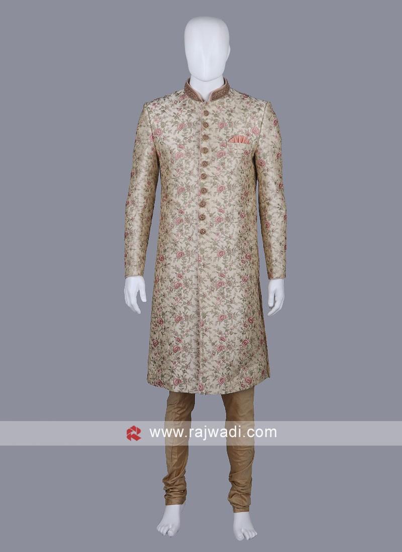 Thread Work Groom Sherwani