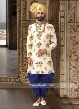 Art Silk Cream Color Indo Western