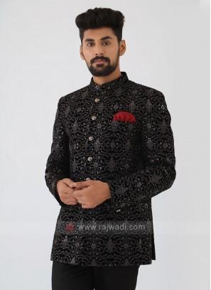 Thread Work Jodhpuri Suit