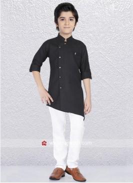 Layered Black Kurta Pajama For Party