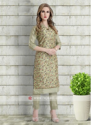 thread work kurta with pants