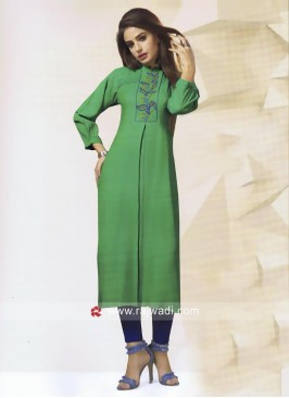 Thread Work Kurti