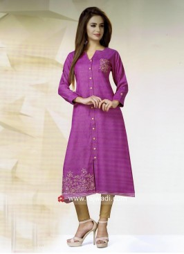 Thread Work Kurti for Party