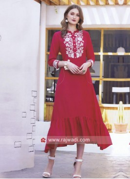 Thread Work Layered Kurti
