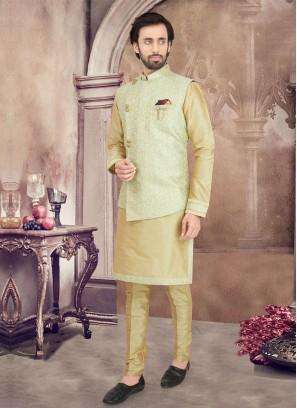 Thread Work Nehru Jacket Set