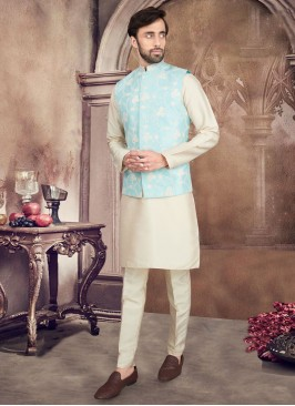 Thread Work Nehru Jacket Suit