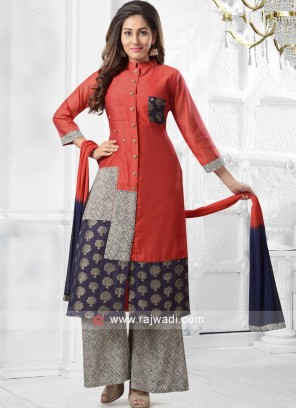 Thread Work Palazzo Suit