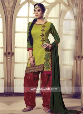 Thread Work Patiala Salwar Kameez