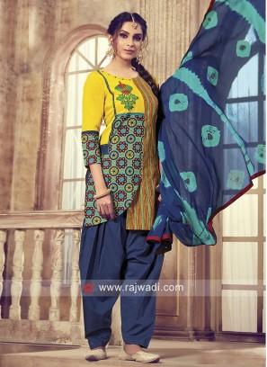 Thread Work Patiala Salwar Kameez