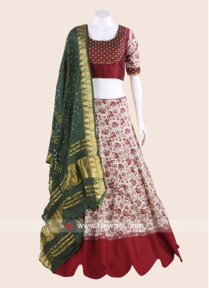 Thread Work Printed Chaniya Choli for Garba