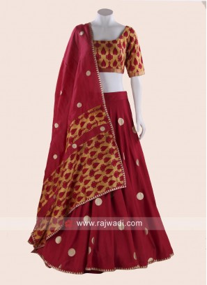Thread Work Printed Cotton Choli Suit