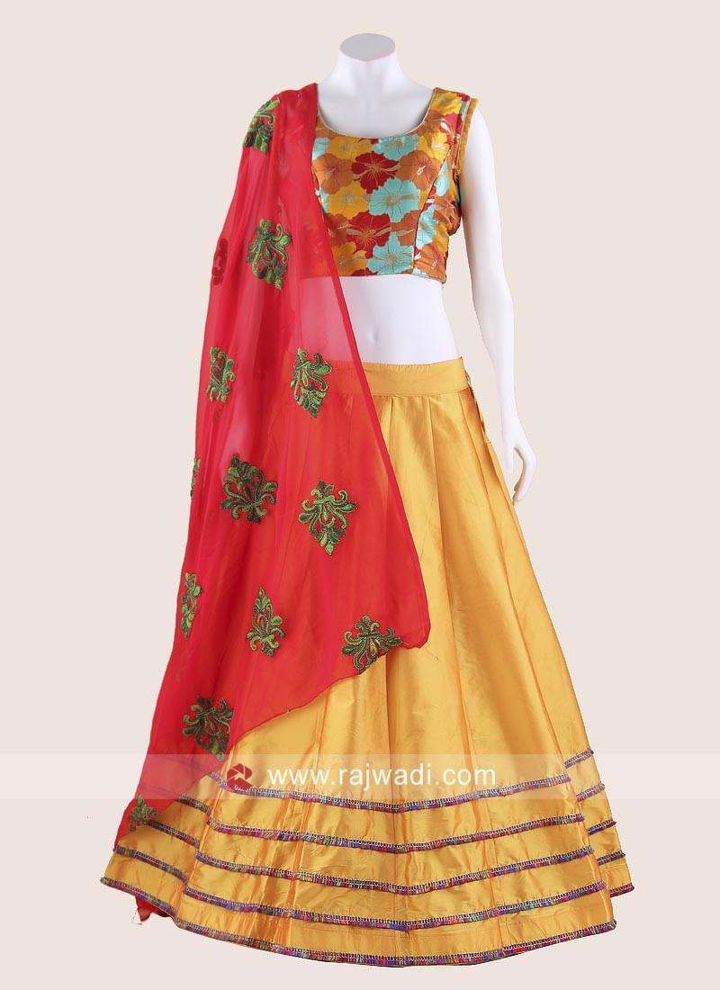 Thread Work Readymade Chaniya Choli for Garba