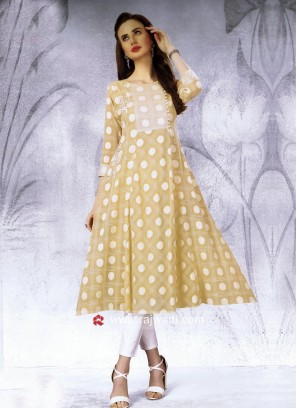 Thread Work Semi Anarkali Kurti