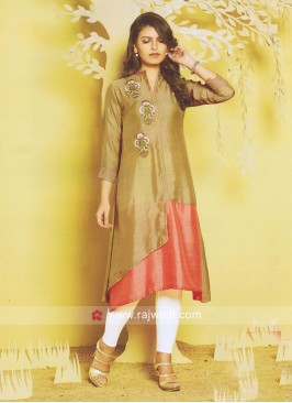 Thread Work Silk Kurti
