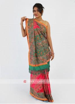 Thread Work Silk Saree