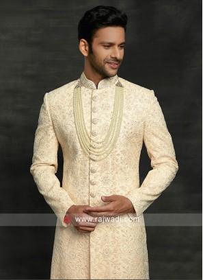 Thread Work Silk Sherwani