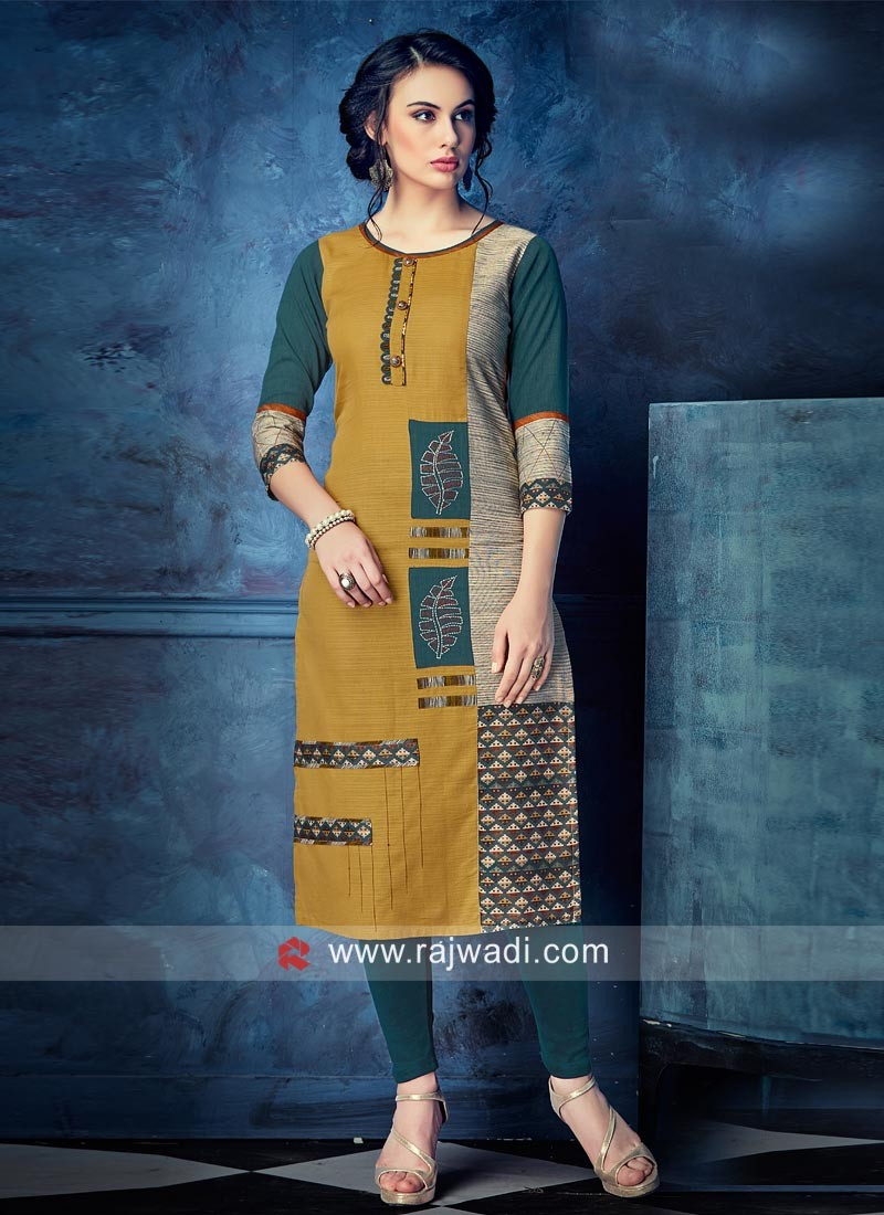 Thread Work Stitched Kurti