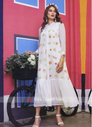 Thread Work Summer Kurti