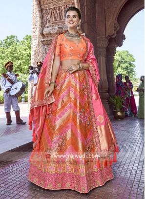 Thread Work Unstitched Lehenga Choli