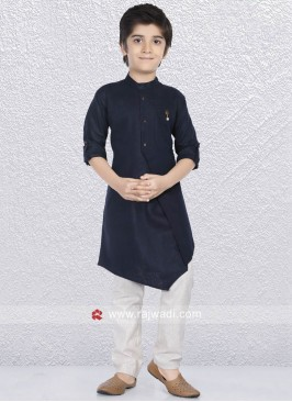 Wedding Wear Navy Kurta Set