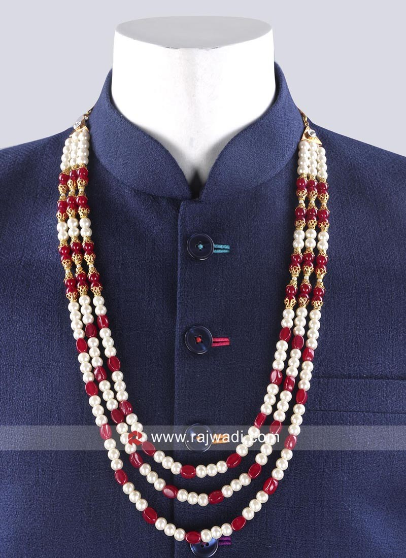 Three Layer Wedding Pearl Mala