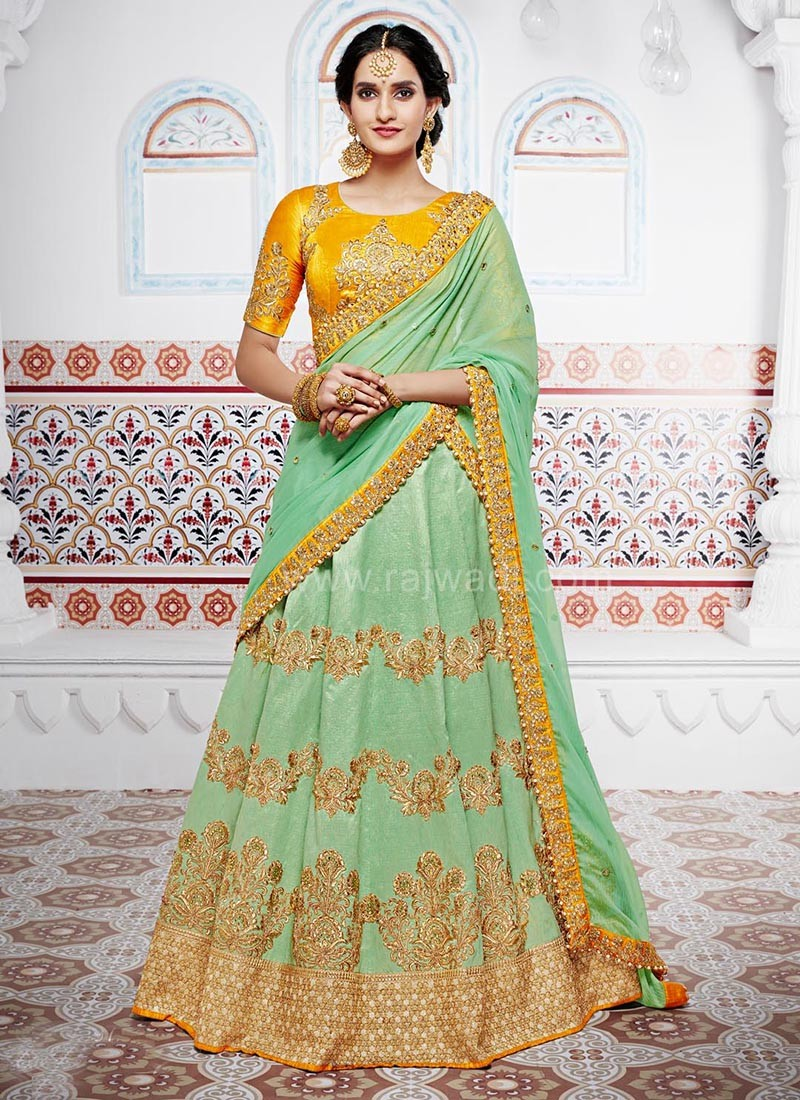 Three Piece Wedding Lehenga Saree
