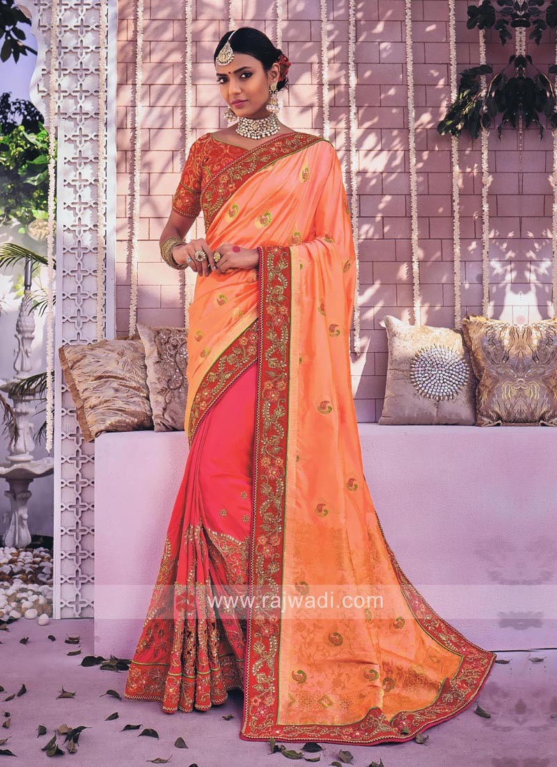 Three Tone Designer Saree